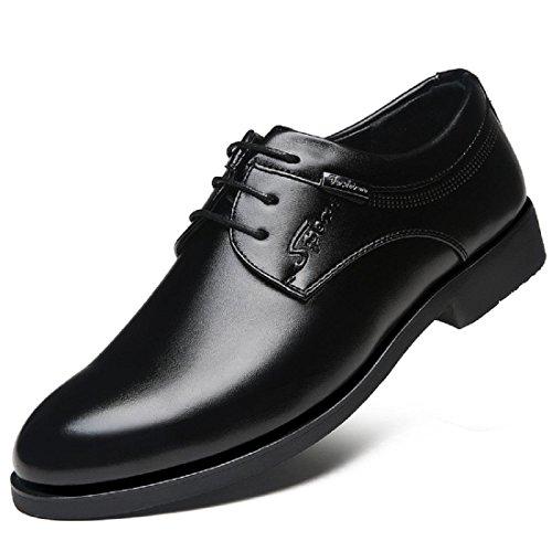 Uomo Scarpe di pelle Retro traspirante Moda Tempo libero Casa scarpe tooling Black