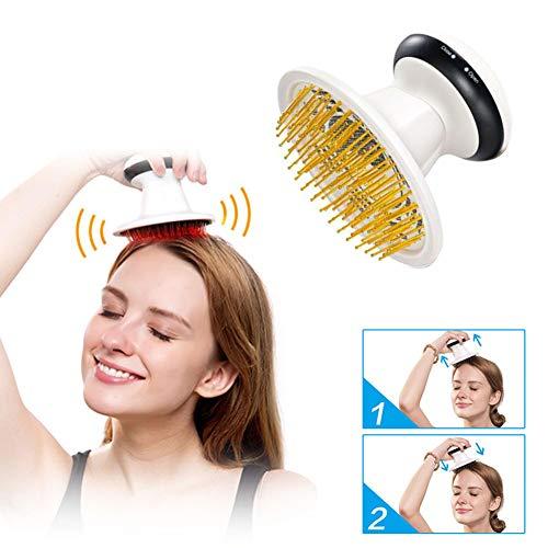 Tragbar Elektrisch Kopfhaut Massagegerät, Leichtigkeit Kopf Ermüden Gesundheit Massage-Kamm, Reinkarnationsmassage Kopfmassagegerät -
