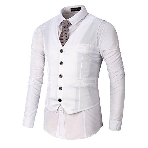 2017 Neu Sunshey Herren Slim Fit Anzugweste M05 für Hochzeit Fest Business super Qualität Weiß