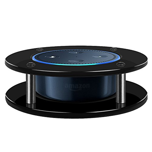 Fintie Portable Acrylic Stand Guard for Amazon Alexa Echo Dot - Enhanced Strength and Stability Station Holder Jet Black (SAAD037AD-US)
