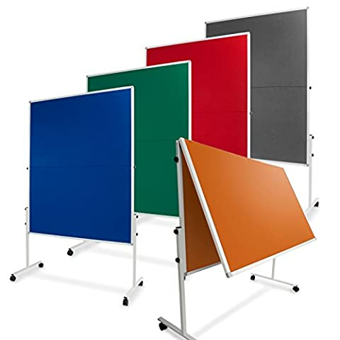 Master of Boards Portable Felt Display Board - 120x150cm (4'x5'), Grey | Foldable Mobile Notice