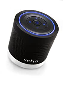 Veho VSS-009-360BT M4 Portable Rechargable Wireless Bluetooth Speaker with Track Control for iPhones, Android, iPod, iPad, Tablets and all other Bluetooth devices - Black