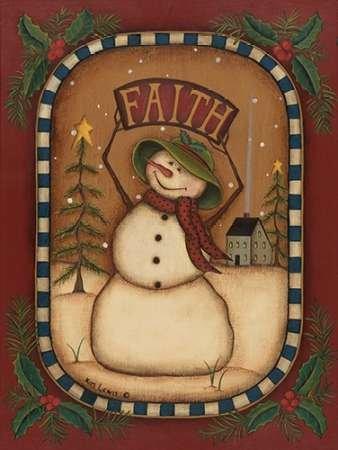 Faith Snowman Von Lewis, Kim Kunstdruck auf Leinwand - Klein (30 x 41 cms )