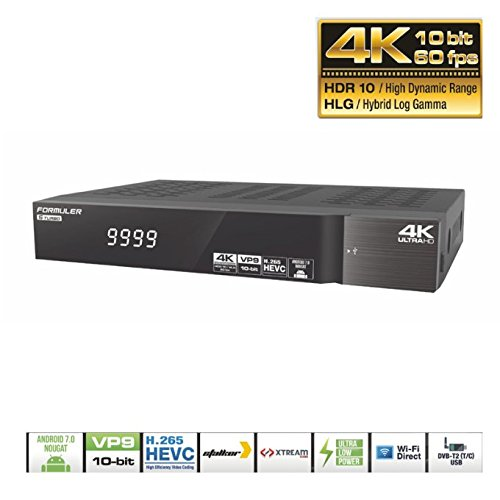 formuler S Turbo 4 K Ultra HD Satellite de IPTV Receptor