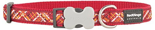 Red Dingo Flanno Design Dog Collar