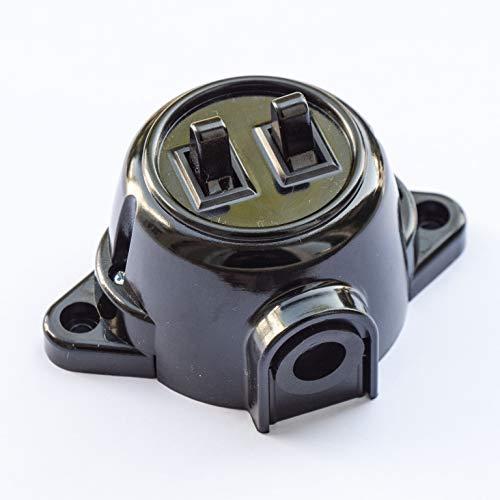 Interruptor de montaje en pared, doble soporte de serie, giratorio, interruptor de...