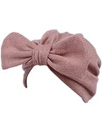 Gorros Bebé invierno cálido sombreros Sombrero que hace punto de los bebés de los niños Gorro de capucha Beanie Turban Head Tapa de pila Zapatos de bebé Bufandas del Bebé ropa bebe by Xinantime (Rosa)