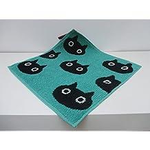 Toalla/manopla en algodón gato verde