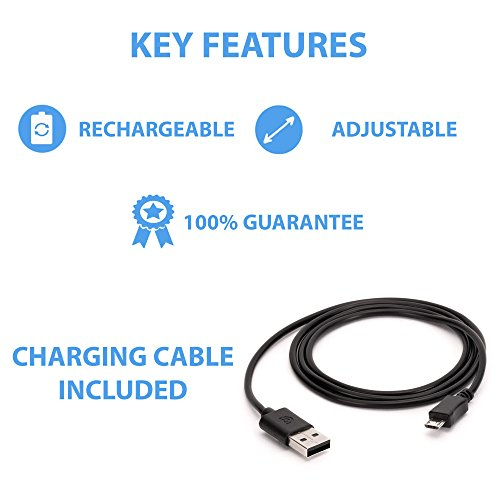 LED-Hundehalsband, aufladbar per USB-Anschluss, für gute Sichtbarkeit und mehr Sicherheit im Dunkeln, in 4 Farben und 3 Größen verfügbar, Batterien sind nicht im Lieferumfang enthalten - 4
