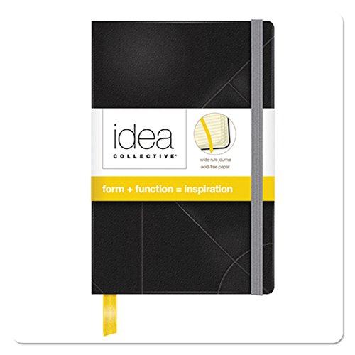 Tops Idee Collective Mini Tagebuch, breit Rule, Schwarz, cremefarbenes Papier, 14x 8,9cm, 192Seiten (56874) (Executive Journal Black)