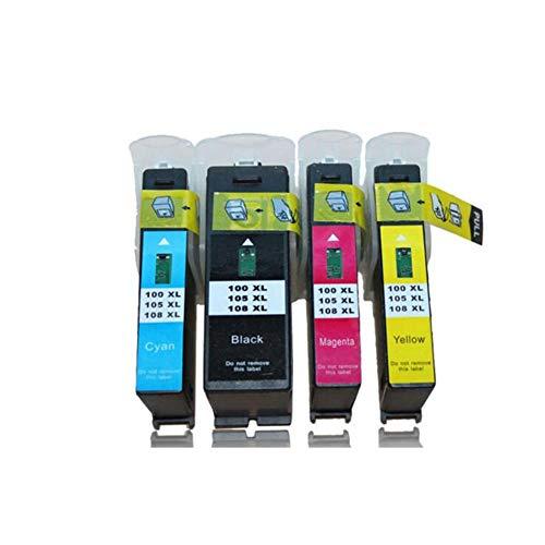 AIBOTY Kompatible Tintenpatronen für Lexmark 100XL zur Verwendung mit LEXMARK PRO205 208 S305 S308 S405 S408 (1 Schwarz, 1 Cyan, 1 Magenta, 1 Gelb, 4er Pack) - 1 Magenta Tintenpatrone