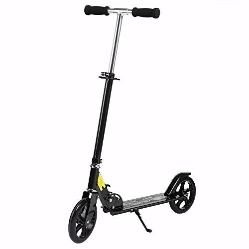Profun Patinete Plegable para Adultos Scooter Altura de Manillar Ajustable 89-100CM con 2 Ruedas de 20CM Freno Trasero con Soporte MAX 100KG para 12 Años+