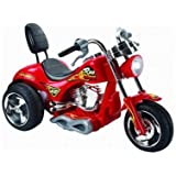 6 VOLT KIDS RIDE ON CHOPPER TRIKE MOTORBIKE IN RED WITH RECHARGABLE BATTERY