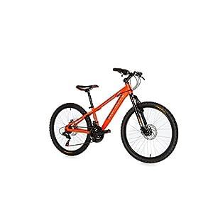 """Moma Bikes Bicicleta Infantil, Montaña GTT24"""", Alu, SHIMANO 21V. Doble Freno Disco, Susp. Delant."""