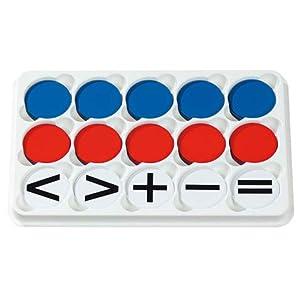 Betzold Wendeplättchen im Sortierkasten (magnetisch) – Rechnen Lernen, Mathematik, Rechenhilfe