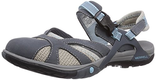 Merrell AZURA WRAP, Damen Sport- & Outdoor Sandalen, Grau (GREY), 40 EU (7 Damen UK)