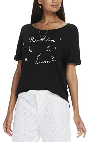 Scotch & Soda Maison French Inspired Short Sleeve Tee, T-Shirt Femme Noir (Black 08)