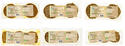 12 x HAMBURGUESAS: Carlota organic, Alga Wakame, Quinoa, Champiñones, Toque Mediterraneo, Provenzal