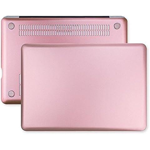 frixie (TM) nuevo oro rosa carcasa y funda para ordenador portátil de teclado para MacBook Air Pro Retina 11