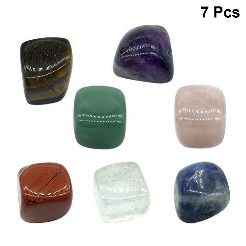 Vosarea cristalli naturali di guarigione chakra forma irregolare pietre burattate per terapia terapeutica di guarigione 7pcs (modello casuale)