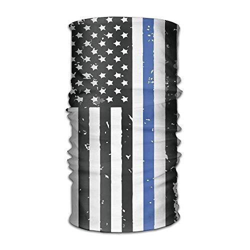 e Flag USA Quick Dry Microfiber Headwear Outdoor Magic Bandana Neck Gaiter Head Wrap Headband Scarf Face Mask Ultra Soft Elastic Handscarf ()