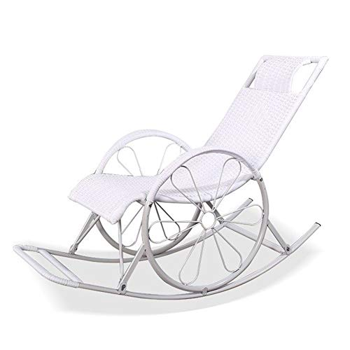 LIXIONG Schaukelstuhl All Wetter Sessel PE Wicker Lounge-Sessel Handgemacht Sling Chair Balkon Veranden Schaukeln Sitz, 6 Stil (Color : F, Size : 130x62x100cm) -