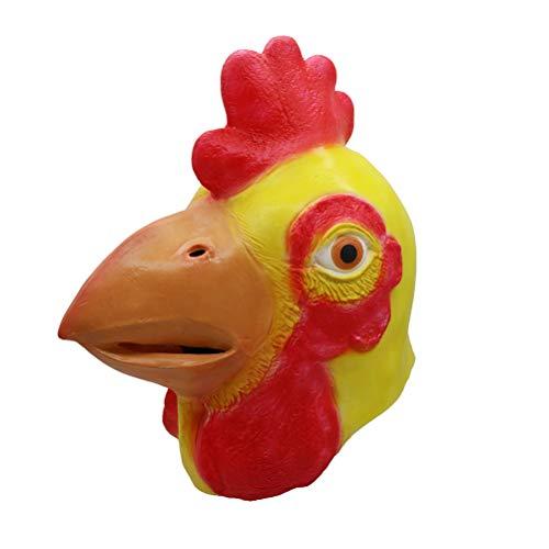 Stobok cappuccio di lattice maschera di testa di pollo per costume halloween party props