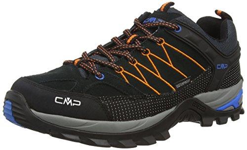 CMP Rigel Low Wp, Zapatillas de Senderismo Hombre, Gris (antracite-fiesta-china blue 721p),...