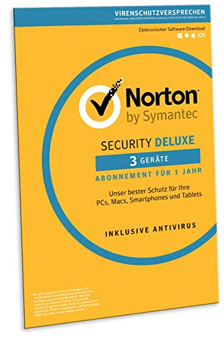 Norton Security Deluxe 2019 | 3 Geräte | 1 Jahr | Windows/Mac/Android/iOS | FFP Download