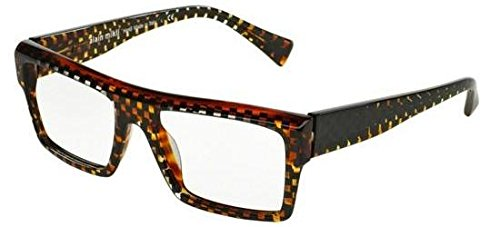 Alain mikli occhiali da vista 0a03032 havana black chess uomo