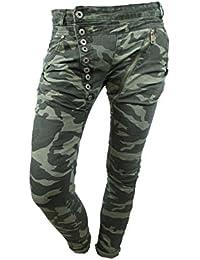 Mozzaar Capri Bermuda Jeans mit  Stickerei Gr.36-42
