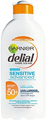 Garnier Sensitive Advance Leche Solar, FPS50+ - 400 ml