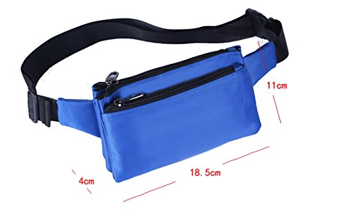 GXYLLDS Running Belt Sweat Pockets Cinturón Belt Sports Belt Waterproof Running Camping Teléfono Móvil Teclado Walkman Tarjeta,SapphireBlue-OneSize