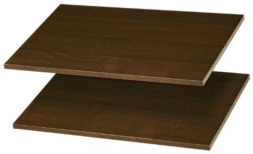 "Easy Track 24"" Shelves (2 Pack) Closet Storage, Truffle"