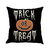VEMOW Halloween Dekoration 4 STÜCK Home Auto Bett Sofa Dekorative Brief Kissenbezug Kissenbezug 45 * 45cm(Mehrfarbig D3, 45 * 45cm)