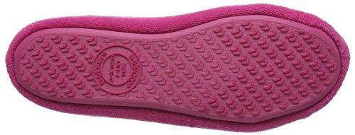 Isotoner Damen Terry Ballerina Slippers Pantoffeln Pink (Hot Pink)