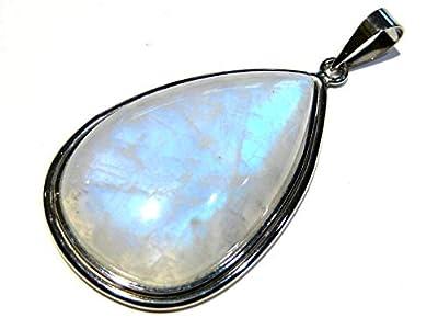 pendentif pierre de Lune argent 925%
