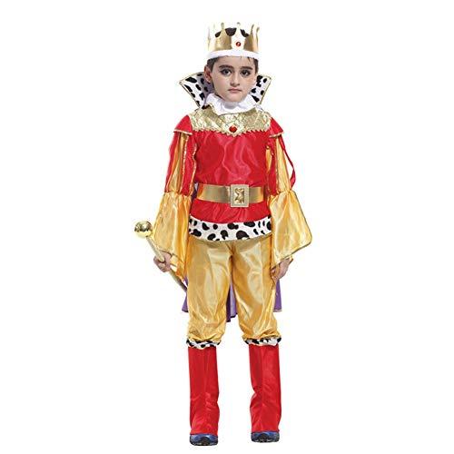 Halloween Kostüme König Anzug Polyester Kleidung Mantel Krone für Boy Party Cosplay ()