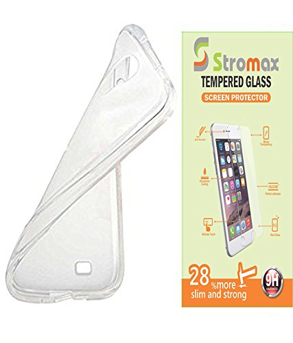 Stromax Combo of Back Cover & Tempered Glass For Micromax Canvas Fire 2 A104  available at amazon for Rs.175
