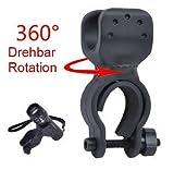 Weeton - Soporte de linterna para bicicleta (rotación de 360º)