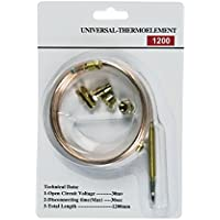 Europart 10029744 UNIVERSAL Thermoelement Thermoelektrische Zündsicherung 1200 mm mit Adaptern u.a. für Gasherd Gas Backofen Gasgrill Heizgerät Gaskessel Therme Terassenheizstahler