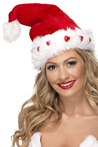 Smiffys Unisex Blinkende Weihnachtsmann Mütze, One Size, 23029