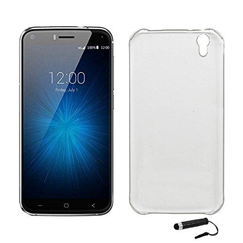Tasche für UMIDIGI London Hülle, Ycloud Handy Backcover Kunststoff-Hard Shell Case Handyhülle mit stoßfeste Schutzhülle Smartphone Weiß Transparent