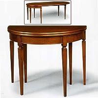 Antiche Riproduzioni Nogal Mesa Consola, Madera de tocador cm 110x 55con 2Extensiones, Made IN Italy - Muebles de Dormitorio precios