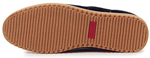 DADAWEN Homme Leather Oxford Chaussure Noir(B)