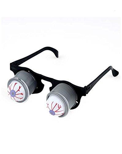 Girm® - s8139 occhiali con molle ed occhi penzolanti, occhiali con molle giocattolo, occhiali divertenti, occhiali costume di carnevale, occhiali molleggianti, occhiali scherzo carnevale, scherzi,