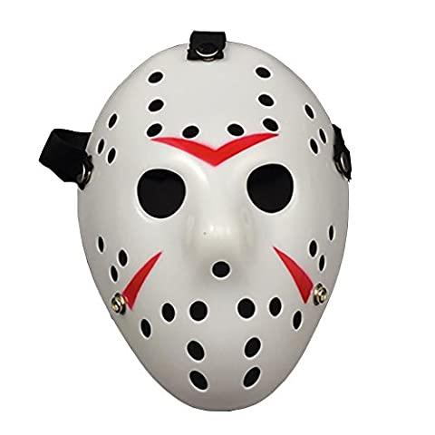 Vinawo Horror Hockeymaske für Halloween Jason Maske Vintage Design Jason Ice-Hockey Maske Halloween Maske Halloween Kostüm Friday the 13th Kopfbedeckungen