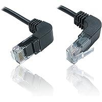 CDL Micro 90gradi verticale Bend up e Down Cat5e RJ45LAN Ethernet patch cavo grigio 50cm
