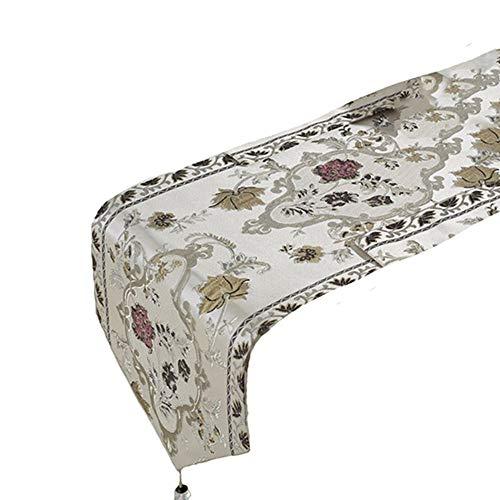 DXCsnowing Tischläufer handgefertigt Weben Hause dekorative Party Geschenk Quaste Bett Tischläufer Tuch Tischläufer für Küchentisch