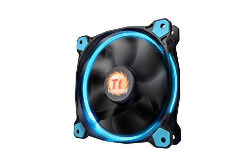 Thermaltake Riing 12 LED Gehäuselüfter schwarz/blau (4-polig-computer Desktop-fan)